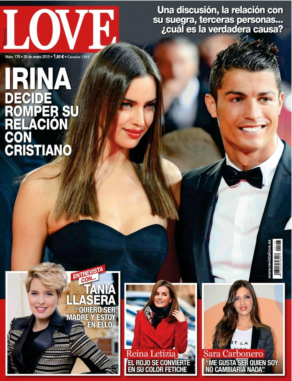 Fashion Model, Football Player: Irina Shayk &Cristiano Ronaldo For Love, Spain