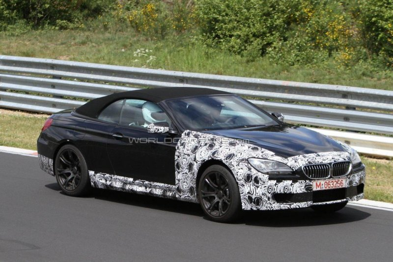Bmw m6 convertible 2012 seen at the nurburgring garage car for Garage bmw en france