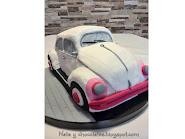 Tarta coche Escarabajo