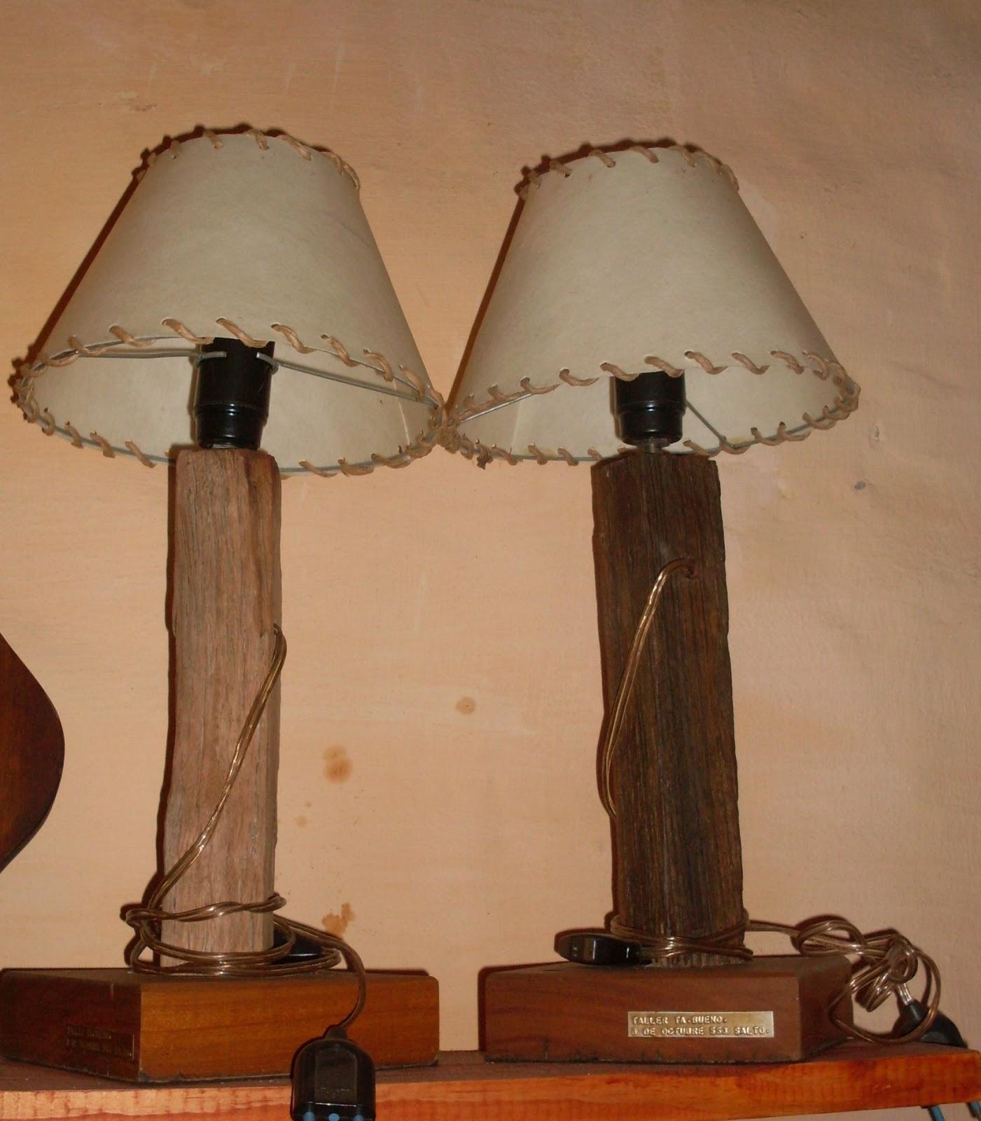 El desv n taller de hierro y madera ta 39 bueno for Lamparas de mesa de madera