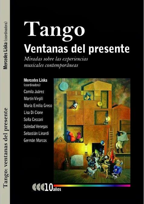 """Arte de tapa del libro """"Tango Ventanas del presente"""""""
