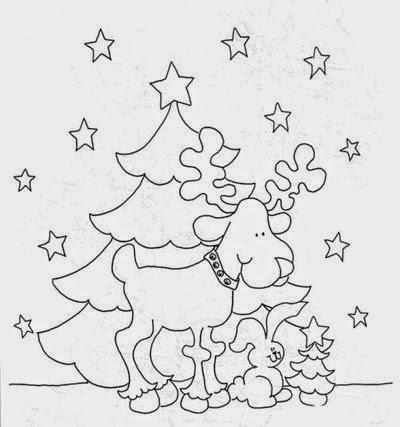 Riscos e moldes com temas natalinos
