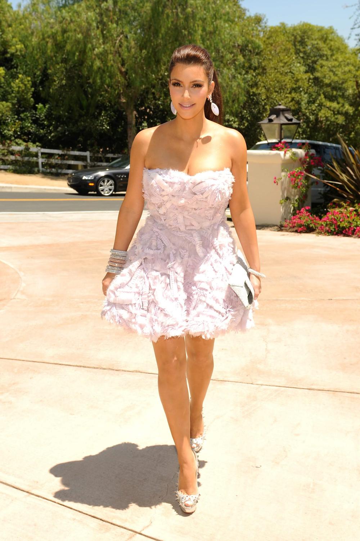 Kim Kardashian Black Ponytail Hairstyles 01