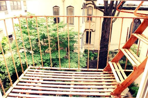 Brooklyn apartment brownstone fire escape