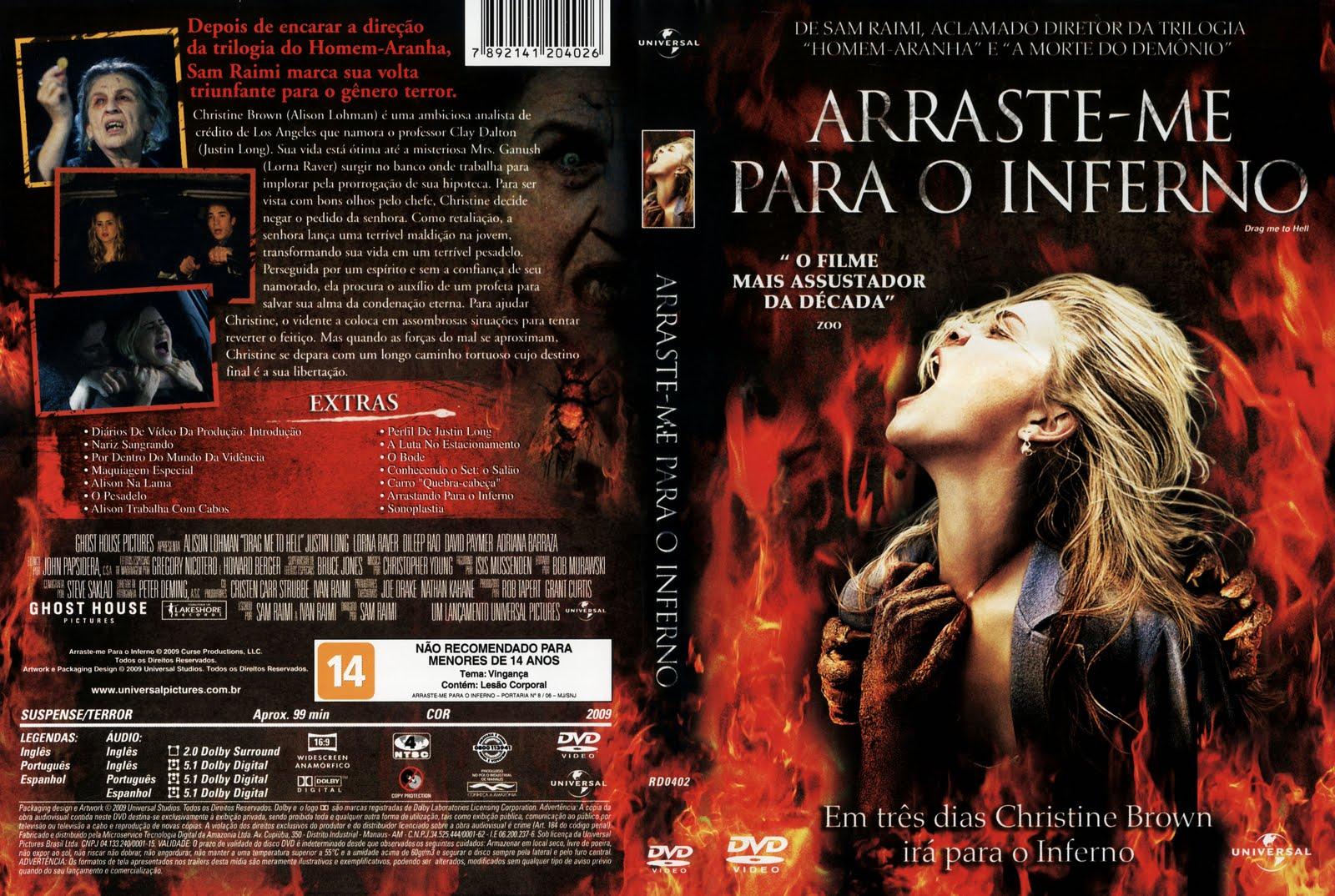 Arraste-me Para o Inferno DVD Capa