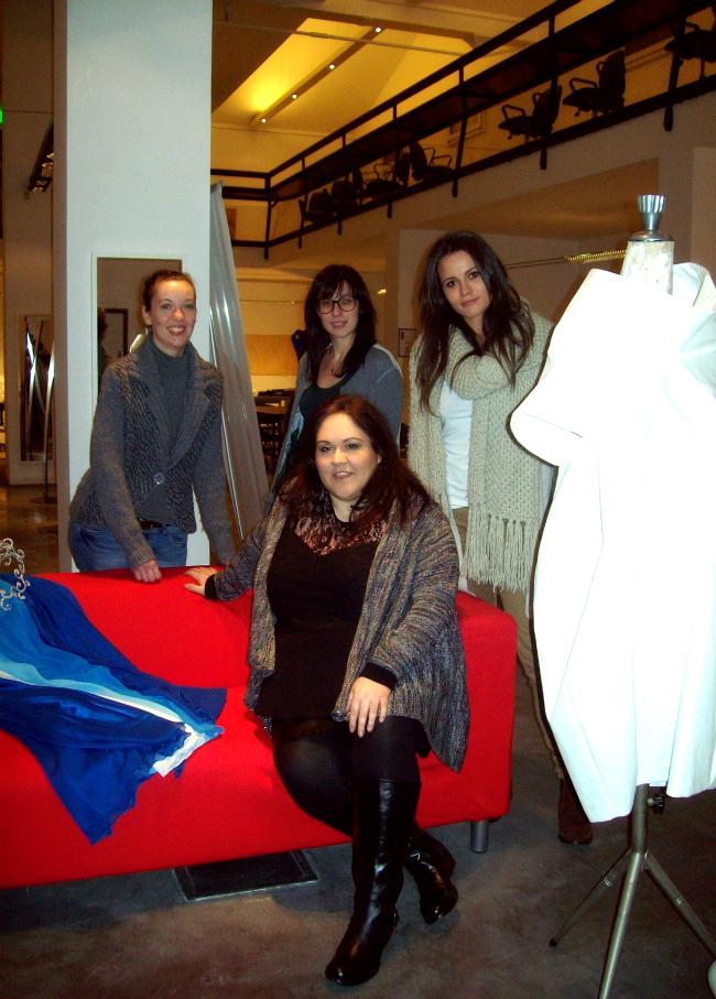 con le ragazze del corso di fashion editing