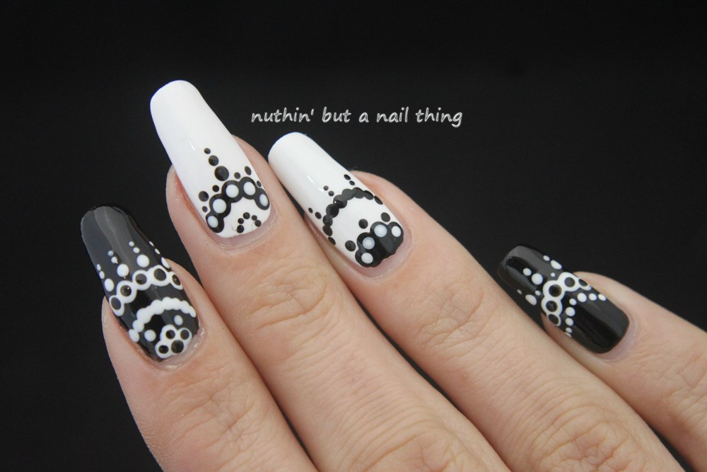 Nuthin but a nail thing 40 great nail art ideas black and white black and white nail art ideas prinsesfo Images