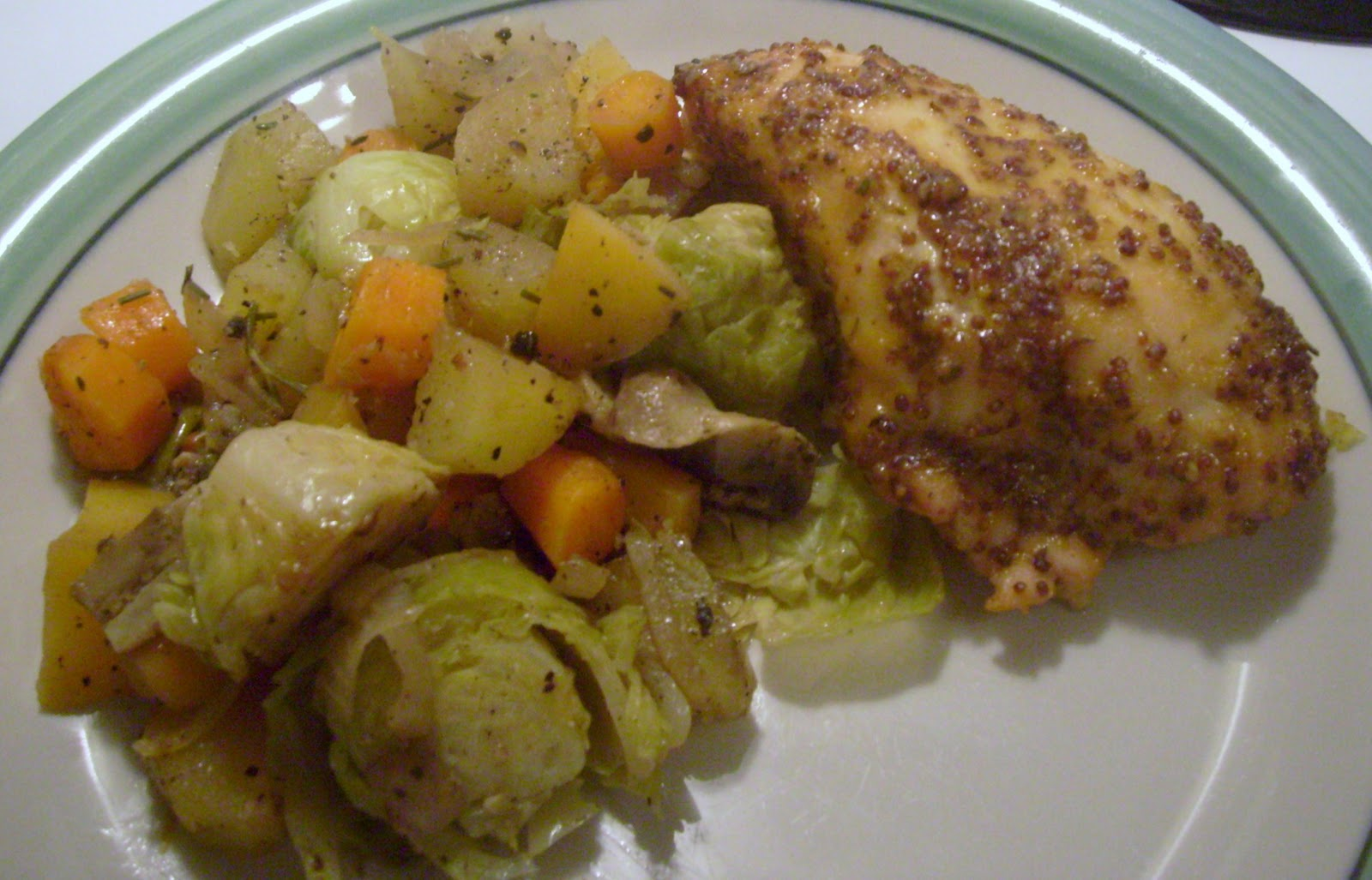 ... Witch: Maple Mustard Glazed Chicken and Roasted Winter Vegetables