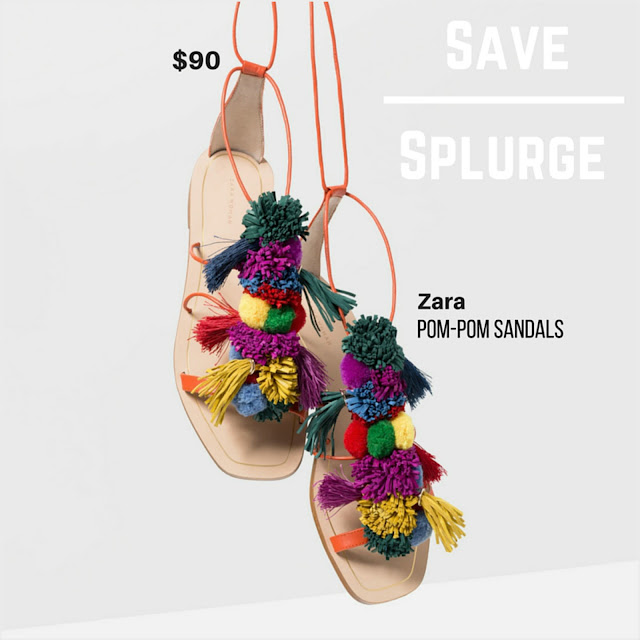 Watch Colorful DIY Lace Up Pom Pom Sandals video
