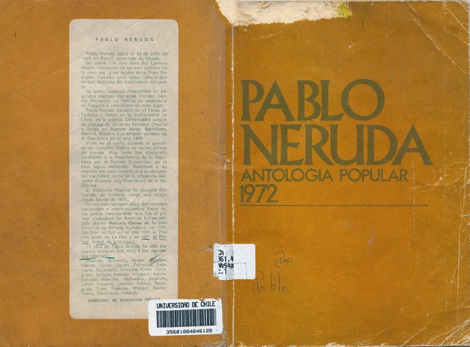 ANTOLOGIA POPULAR 1972. PABLO NERUDA