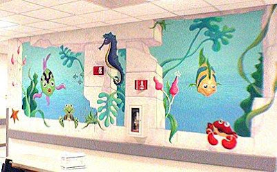 Sea underwater mural wall home design ideas for Underwater mural ideas