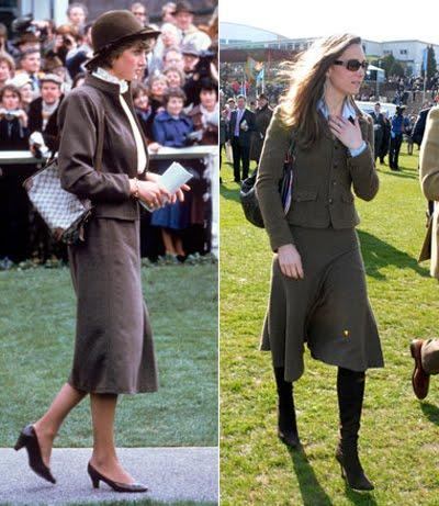Кейт и Даяна с ежедневни костюми късо сако - дълга пола