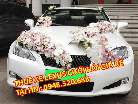 cho thuê xe lexus phục vụ cưới ở hà nội