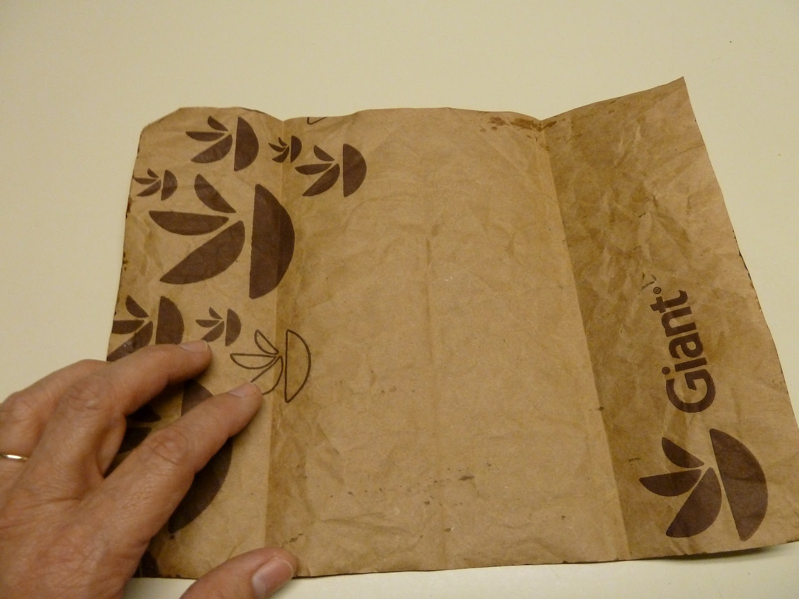 Make it easy crafts leather like brown paper bag origami for Brown paper bag craft