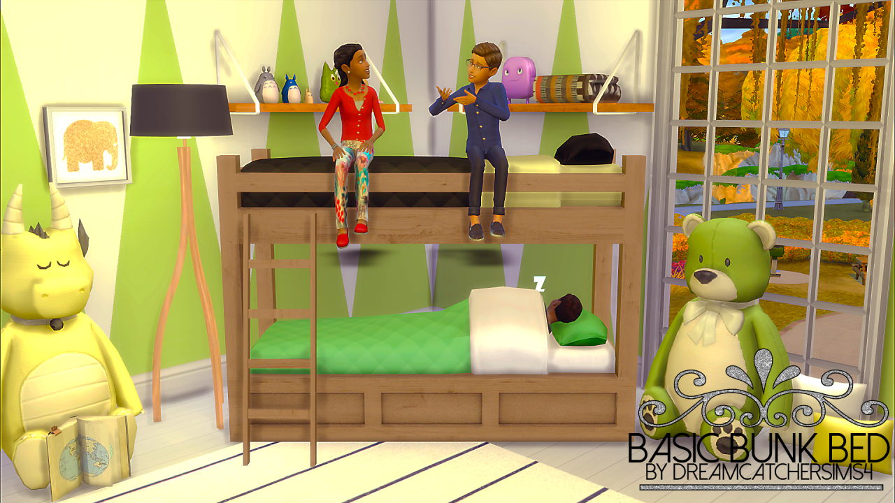My Sims 4 Blog Basic Bunk Bed Frame By DreamcatcherSims