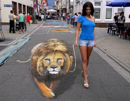 Walking+Her+Lion