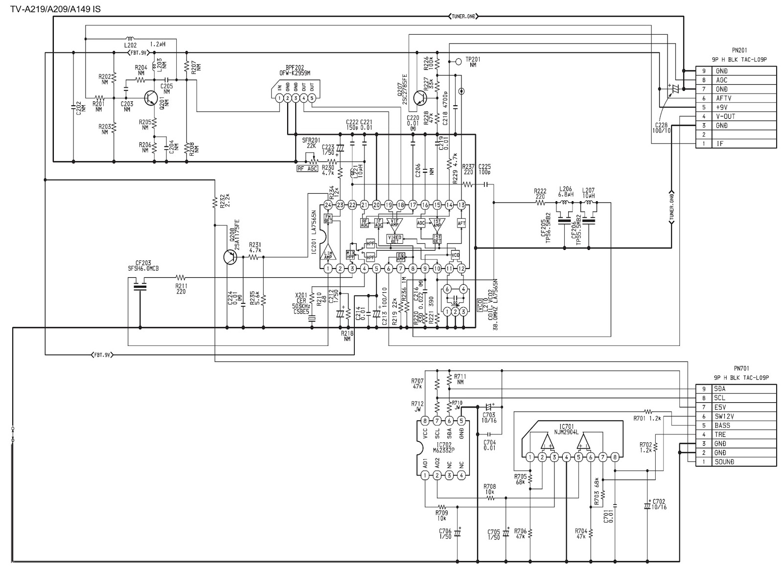 Aiwa Tv A 219 Schematic Diagram Using Ics Str S6707 Stereo Wiring Harness Sub Board