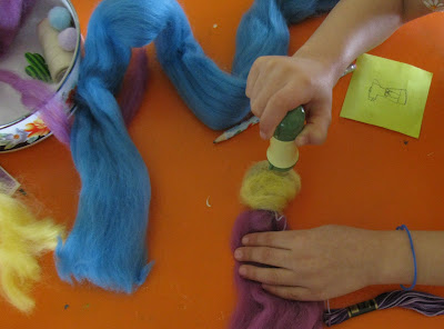 wool roving felted fairy doll waldorf style