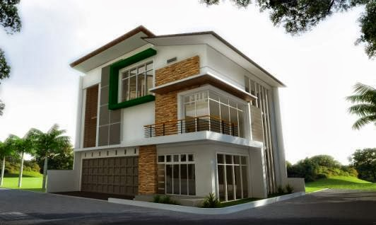 desain 3d gambar rumah idaman