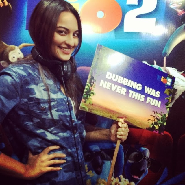 Sonakshi Sinha at  RIO 2 movie dubbing