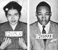 Rosa Parks, Martin Luther King booking photos