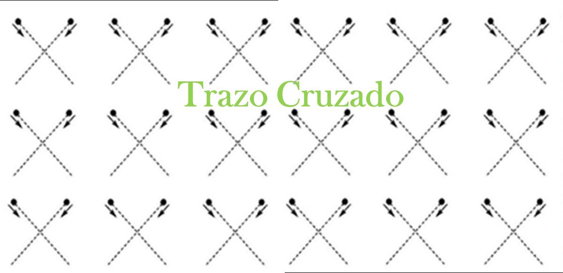 Descargar ejemplos de fichas para trabajar el trazo cruzado