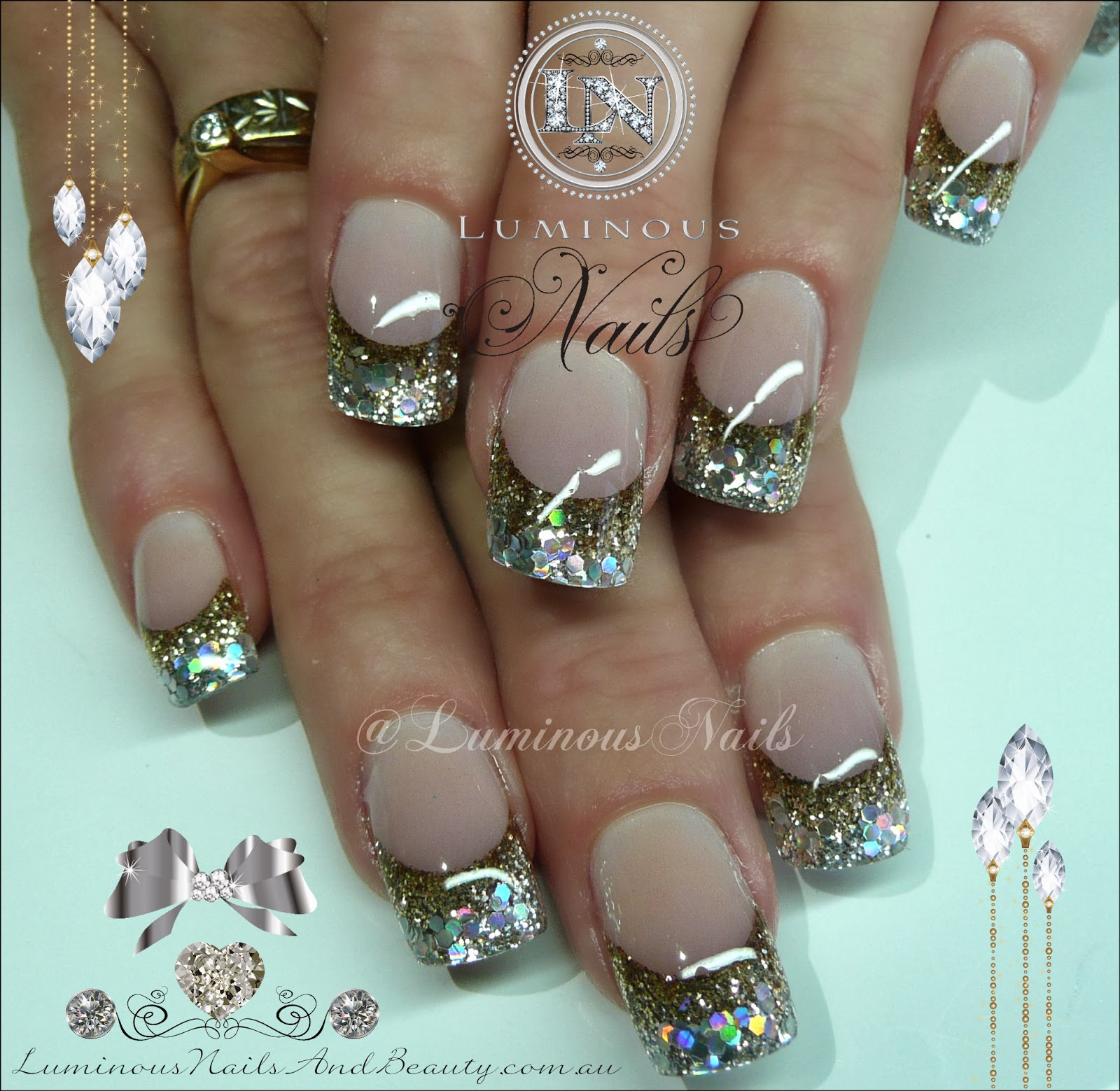 Nail art silver gold gold silver toe nail art designs antique nail art imagination in colour view images prinsesfo Images