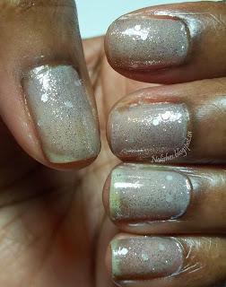 Soft Shade Glitter Manicure
