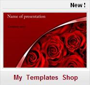love flowers fleurs rouges valentine's day saint valentin Free PPT Templates