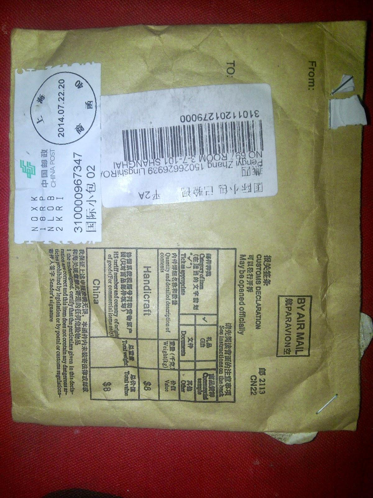 kiriman barang dari luar negeri