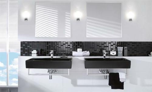 Ideas Para Decorar Baño Blanco:Baños en blanco y negro