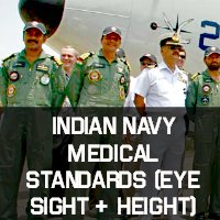 Indian Navy Medical Standards (Eye Sight + Height)