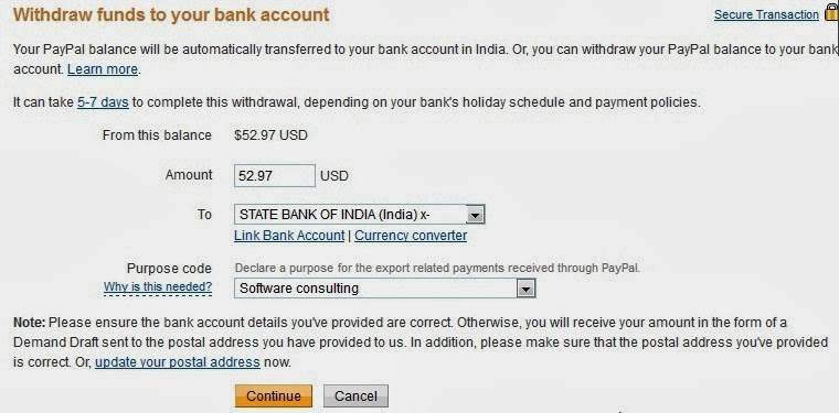 Withdraw PayPal Funds to Bank Account