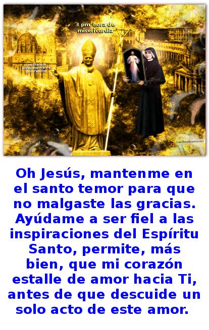 jesus misericordia en cuadro llevado por santa faustina y el papa de oro juan pablo segundo