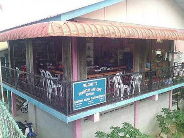 Welcome sight: Kampung Melayu Tebakang's very own cafe.