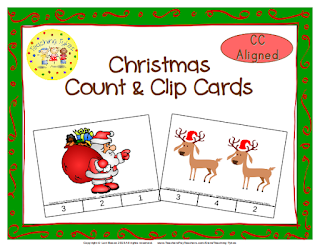 https://www.teacherspayteachers.com/Product/Christmas-Count-Clip-Cards-Common-Core-Aligned-902821