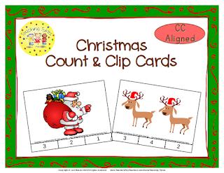 https://www.teacherspayteachers.com/Product/Christmas-Count-Clip-Cards-Common-Core-Aligned-902821