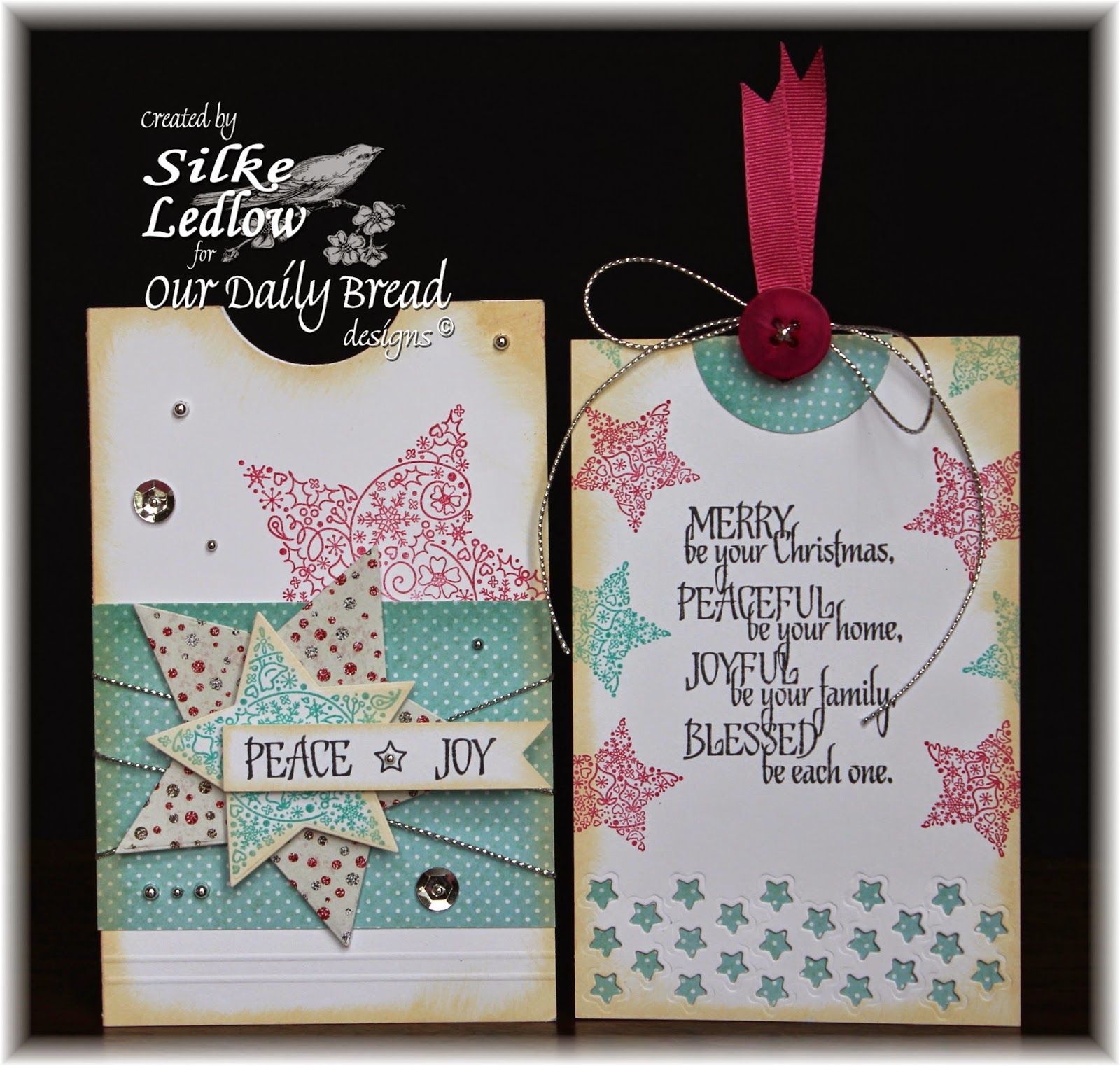 Stamps - Our Daily Bread Designs His Birth, ODBD Christmas Paper Collection 2014, ODBD Custom Sparkling Stars Dies