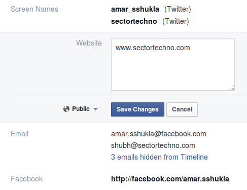 make social profile visible on Facebook