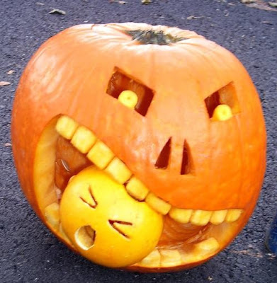 Evil Cannibal Halloween Pumpkin, Carved Pumpkins, Pinterest