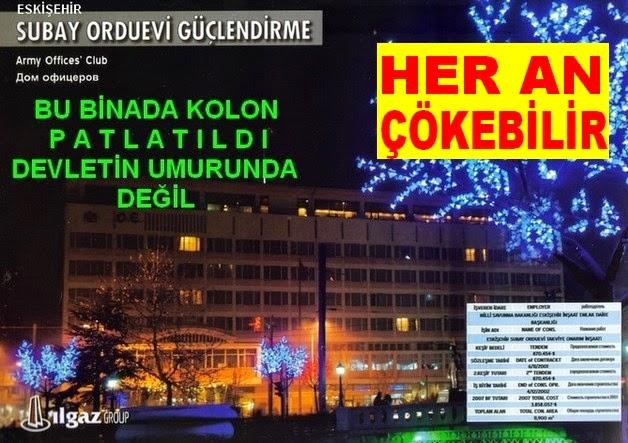 TAYYİP'İN KATİL MAFYASI BU BİNADA KOLON PATLATTI