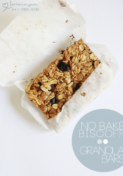 Hearts in My Oven: No Bake Biscoff Granola Bars