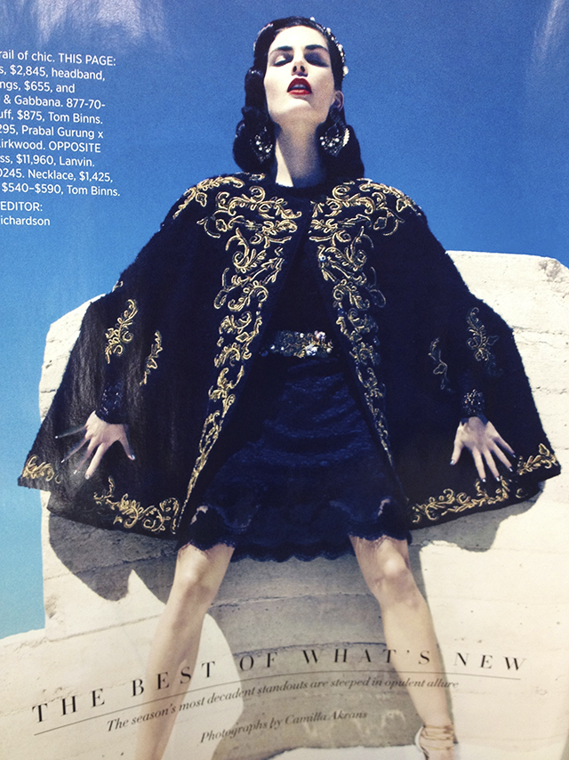 Retro glamour. Cape by Dolce & Gabbana