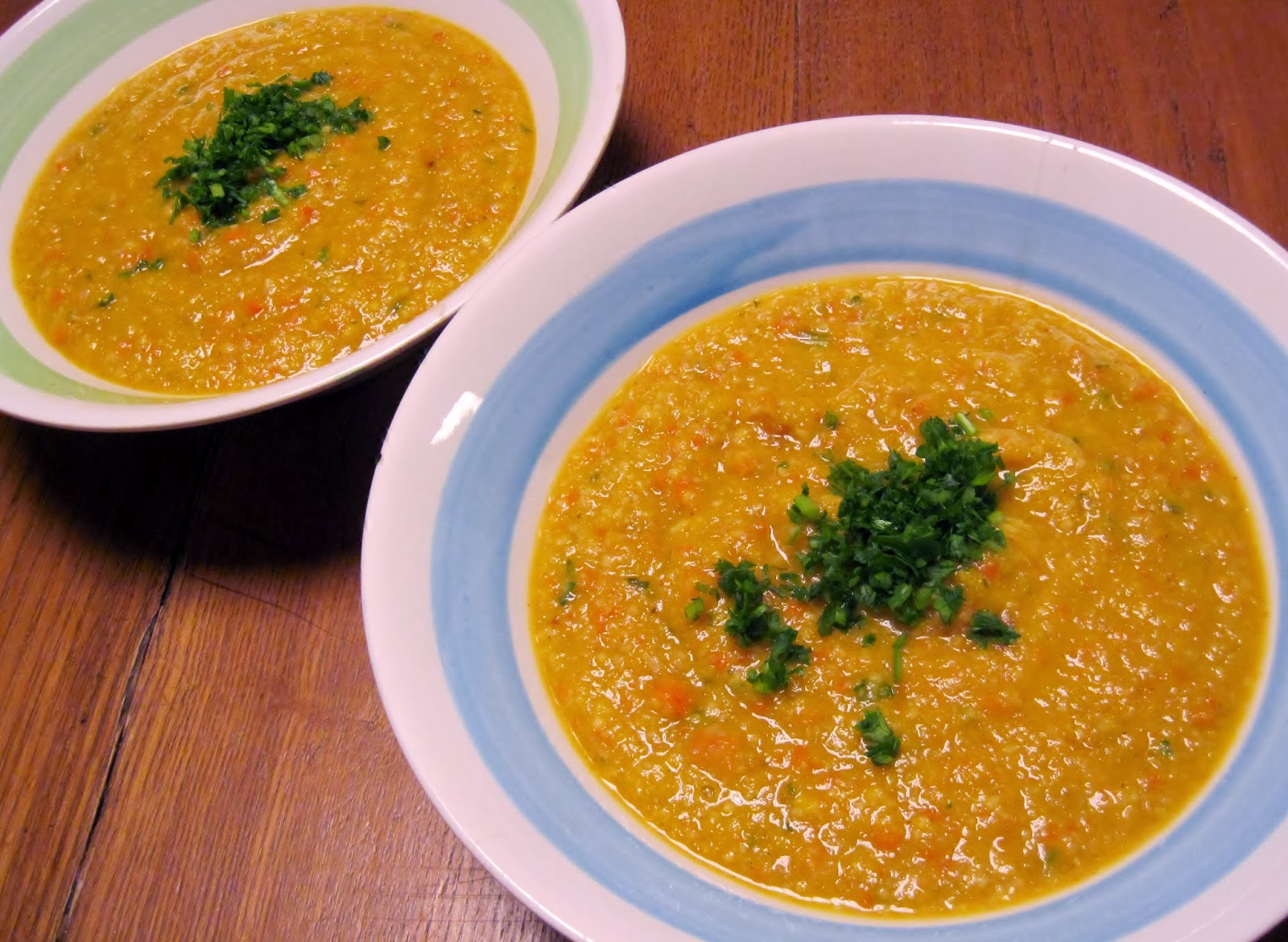 My roasted butternut squash and carrot soup is so sumptuously creamy ...