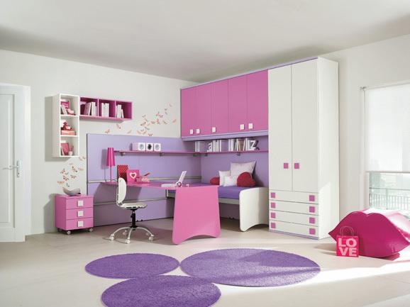 Cuartos de ni a en rosa y lila dormitorios con estilo for Habitacion lila y blanca