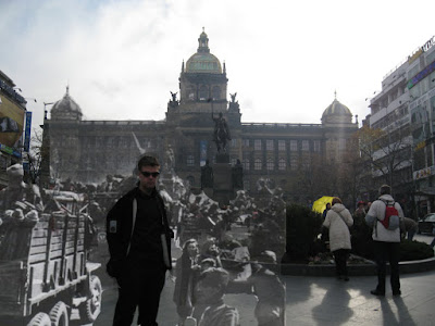Wenceslas Square Then and Now