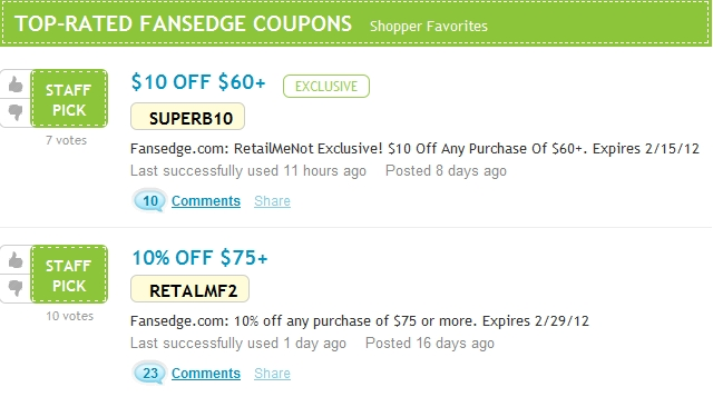 Fans edge coupon code