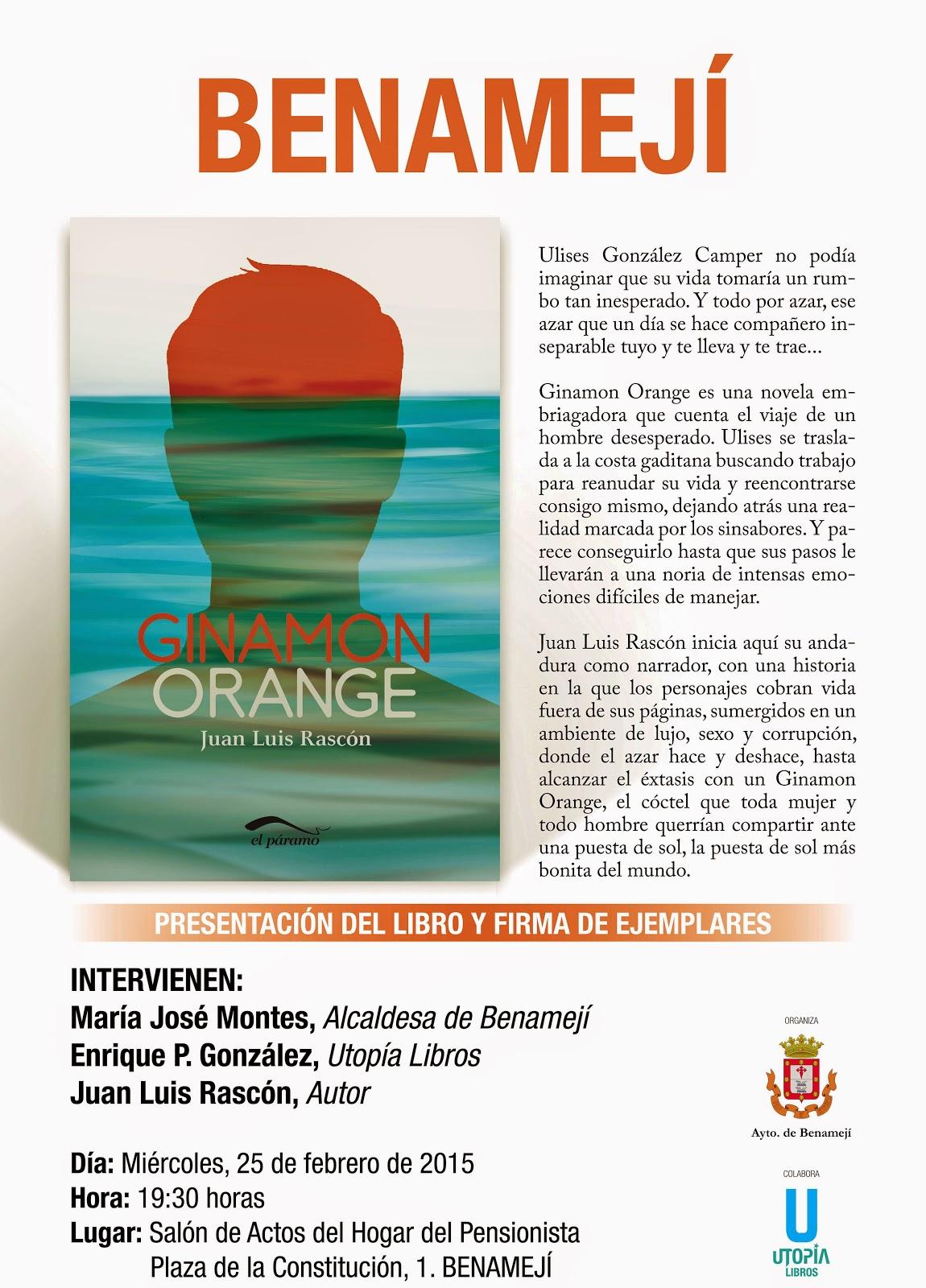 Red Joven La Subbética: Presentación del libro Ginamon Orange en ...