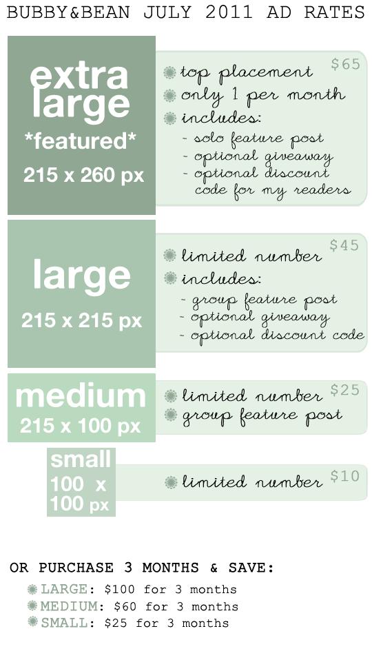 July Sponsor Rates