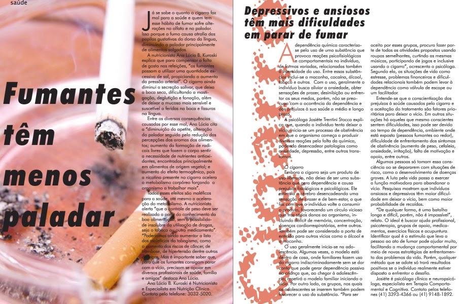 Artigos sobre tabagismo